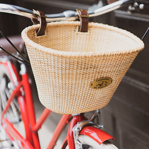 Custom bicycle with accessories for all of your cheesy travels