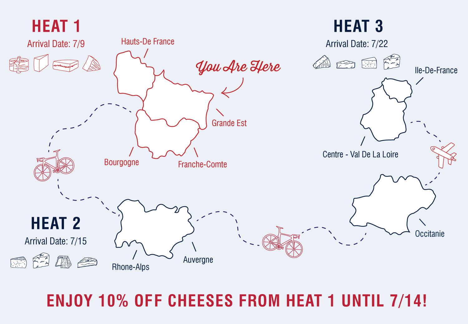 Murray's Cheese is featuring different French regions each week, with special sale prices for cheeses from the area