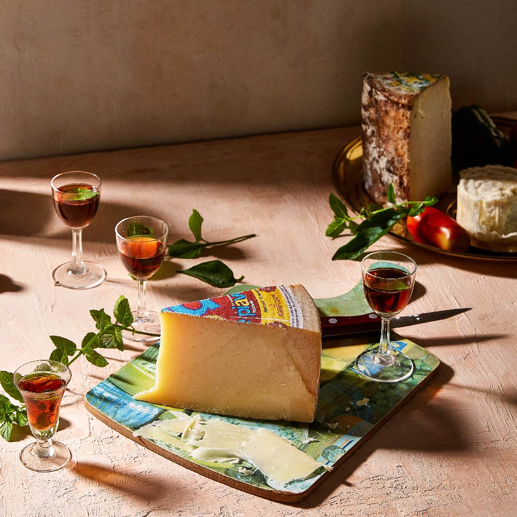 Amaro Italian Digestif Paired with Piave Cheese