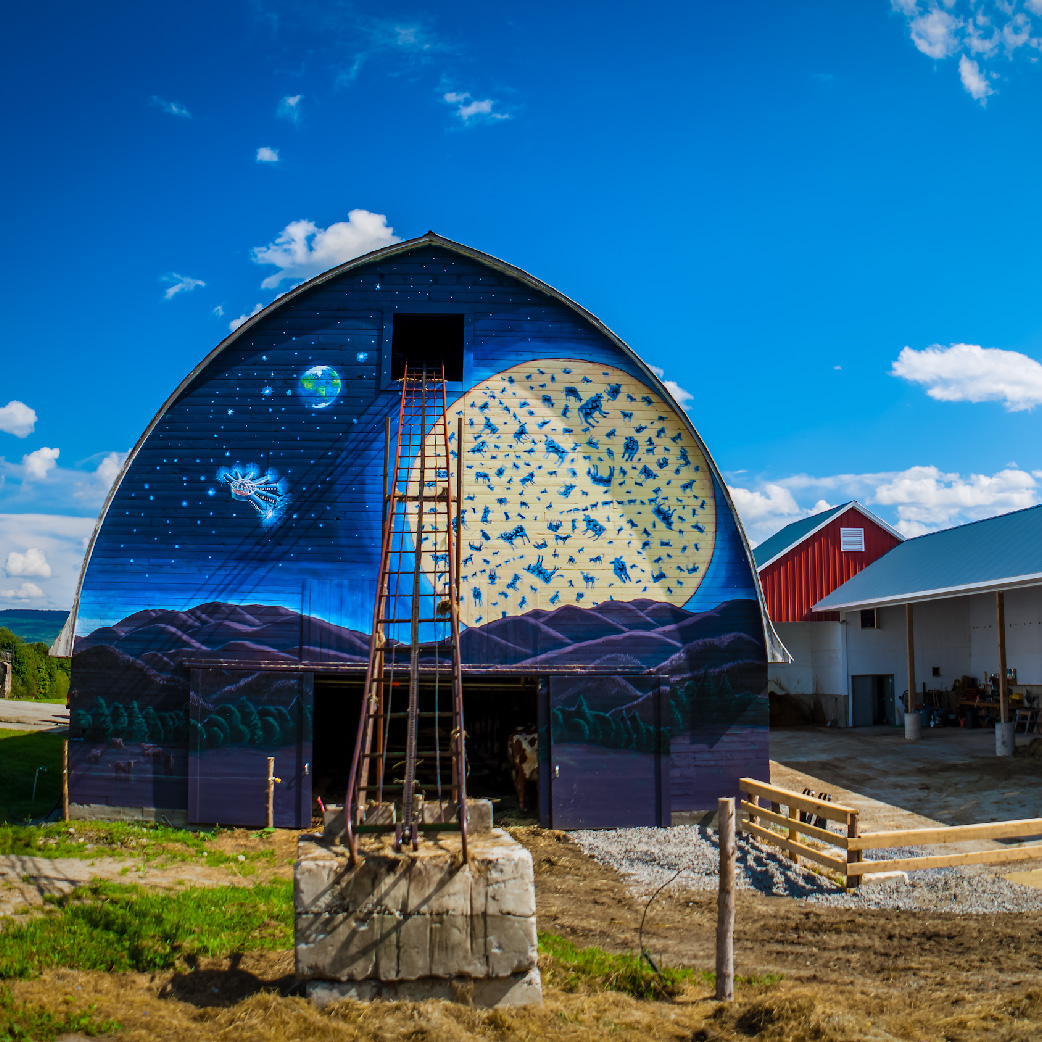 Jasper Hill Barn with Bayley Hazen Moon Mural