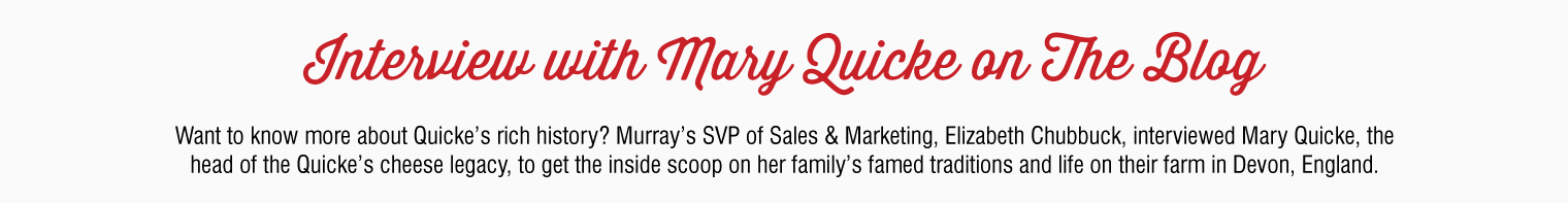 On the Blog: Interview with Mary Quicke