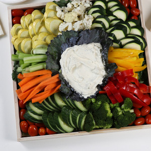 Vegetable Catering PLatter with Dip