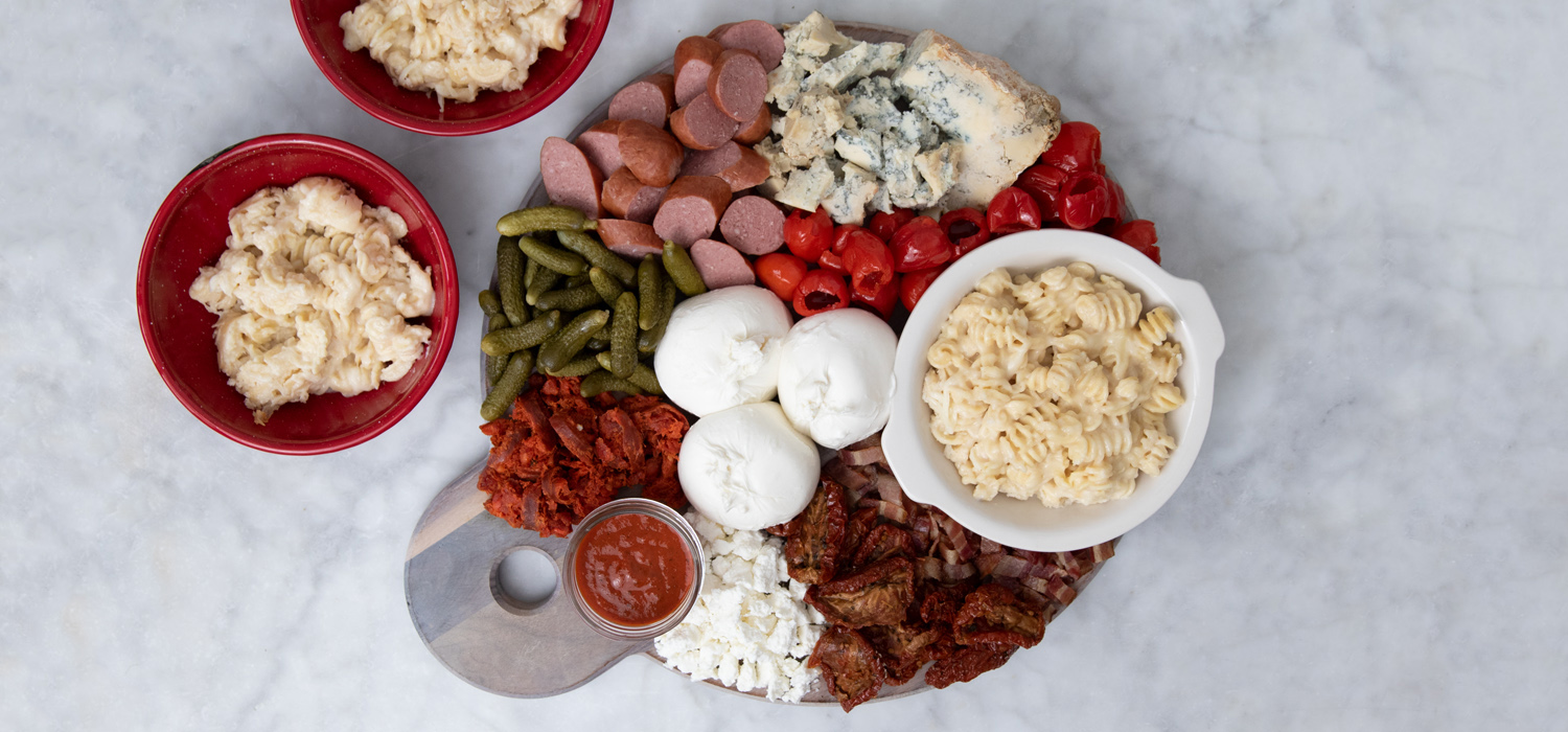 The Ultimate Mac & Cheese Toppings Board