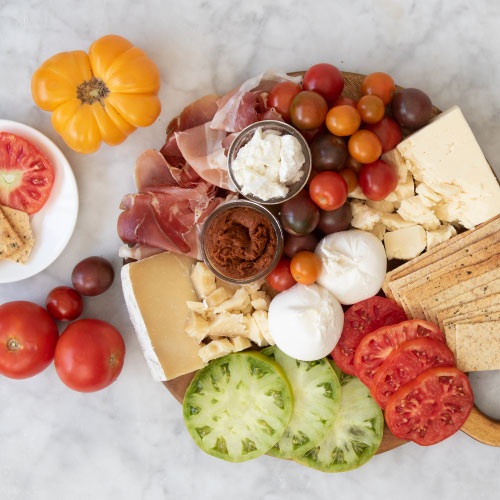 The Fresh Caprese Cheese Board