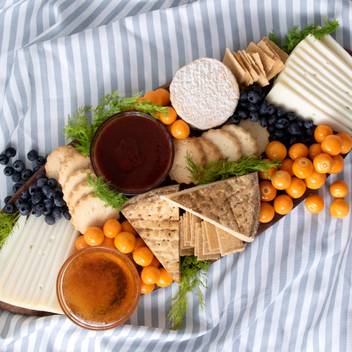 The Light & Bright Spring Cheese Board