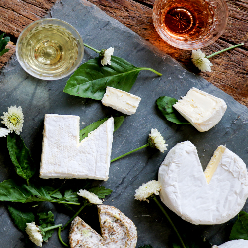 A selection of bloomy cheeses