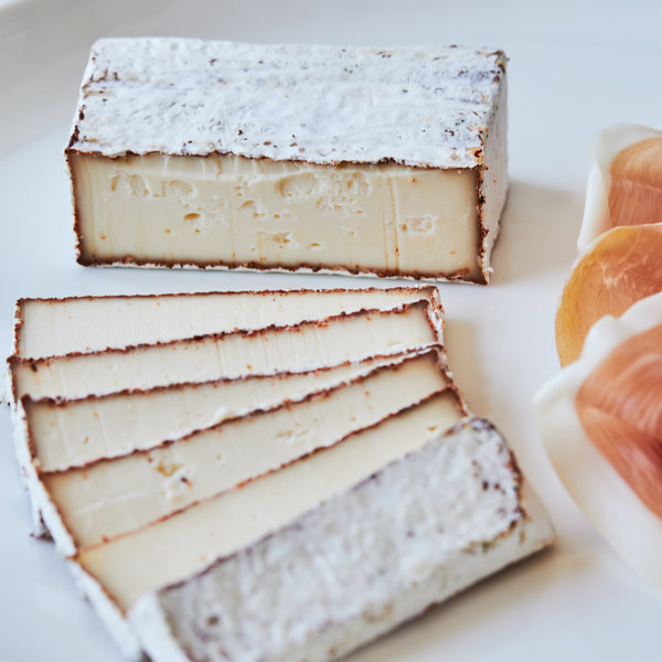 Slices of Murray's Cave Aged BBQ Camembert with Wedge