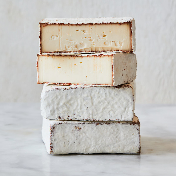Stacked Wedges of Murray's Cave Aged BBQ Camembert