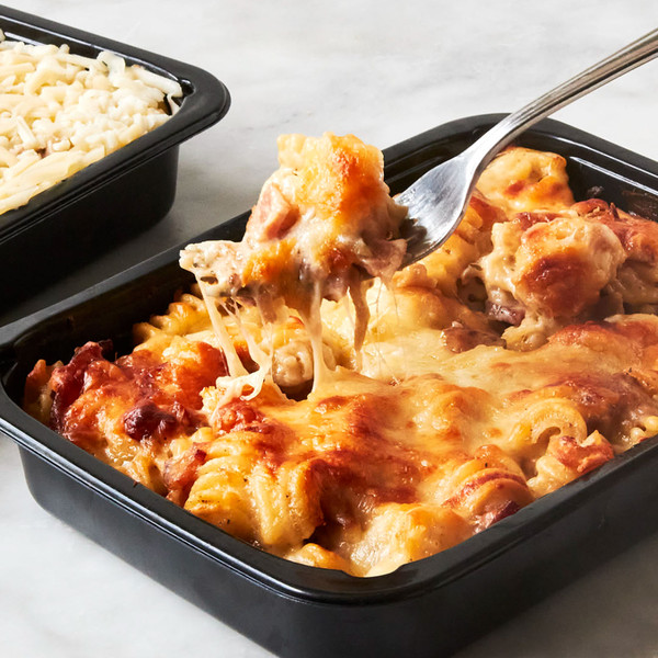 French Onion Mac with Fork