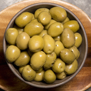 Cracked Green Olives with Herbs 8oz