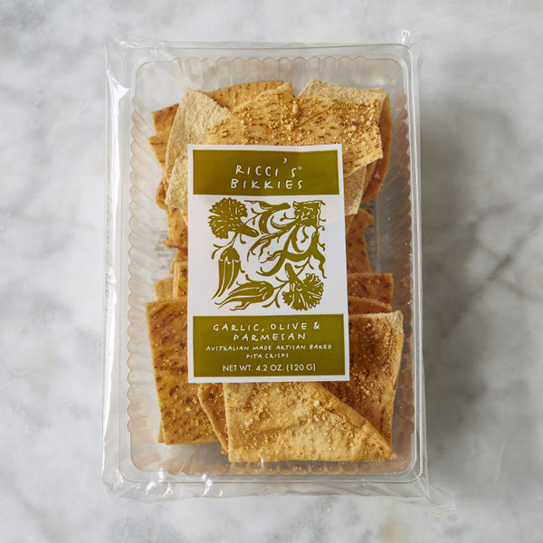 Ricci's Bikkies Garlic EVOO Parm Crisp Bread 4.2oz