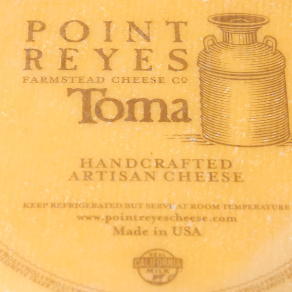 Close Up of Point Reyes Toma Package Label