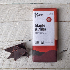 Raaka Maple And Nibs Bar 1.8oz