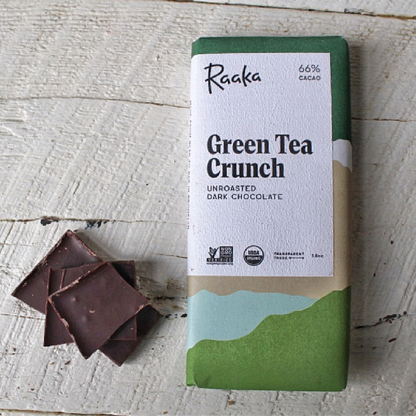 Raaka Green Tea Crunch Bar 1.8oz