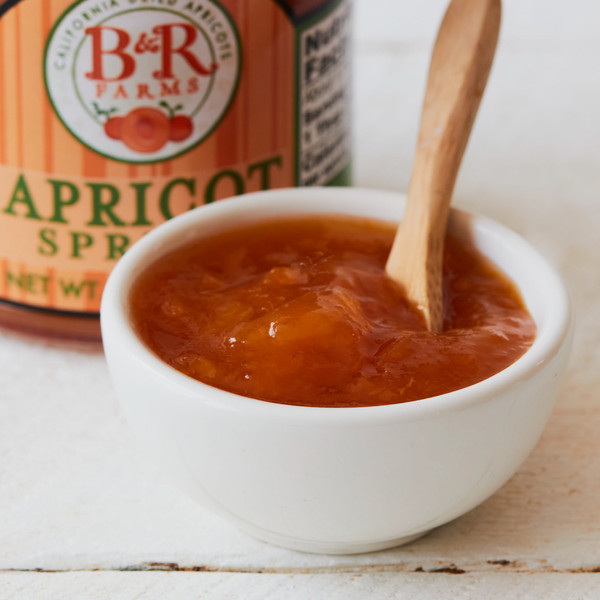 Bowl of Dried Apricot Spread with a Spoon