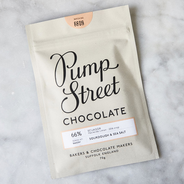 Pump Street Sourdough & Sea Salt Chocolate 66% 70g