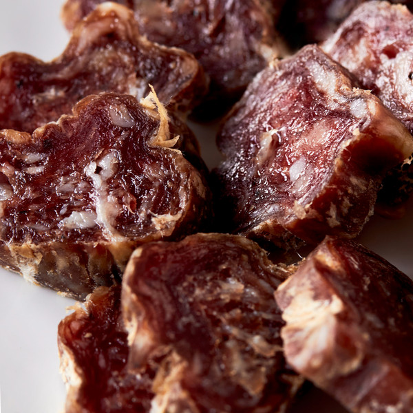 Close Up on Slices of Vermont Salumi Red Wine and Garlic Salami