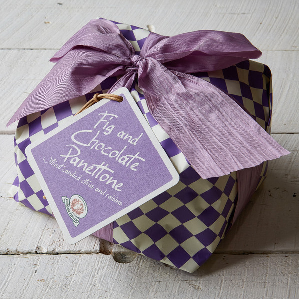 Rustichella Fig and Chocolate Panettone in Package