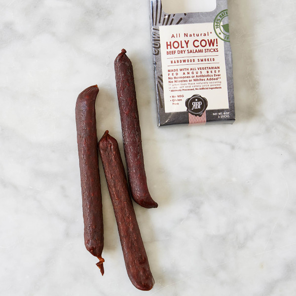 Red Bear Provisions Holy Cow! Beef Dry Salami Sticks 4oz