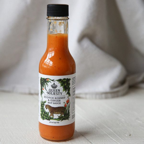 Queen Majesty Scotch Bonnet & Ginger Hot Sauce 5 oz
