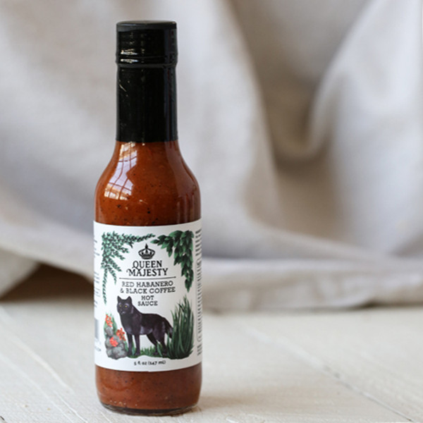 Queen Majesty Coffee & Habanero Hot Sauce 5 oz