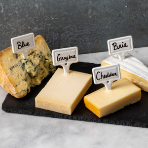 True Brands Ceramic Cheese Labels Set of 4