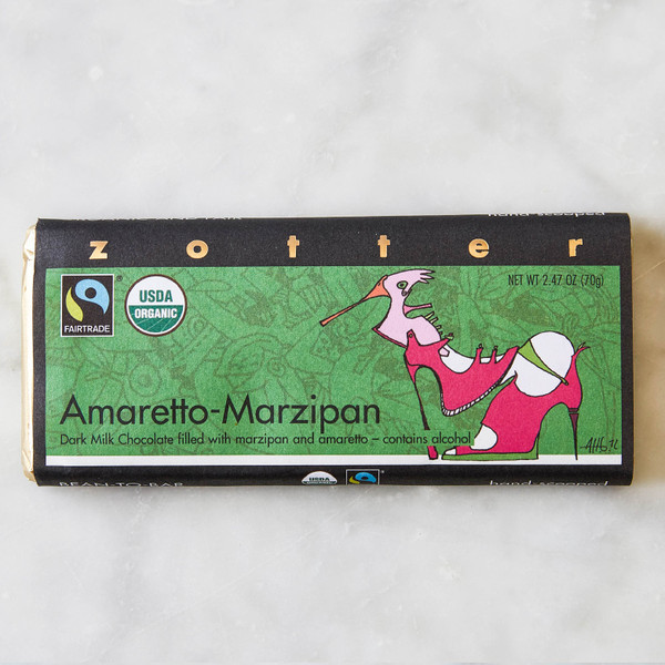 Zotter Chocolates Amaretto Marzipan 2.47oz