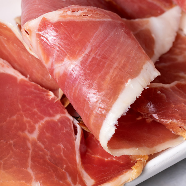 Slices of Lady Edison Extra Fancy Country Ham