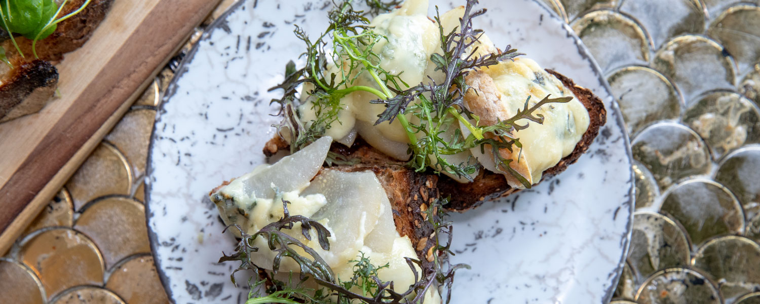 Blue Cheese & Pear Tartine by La Cafette