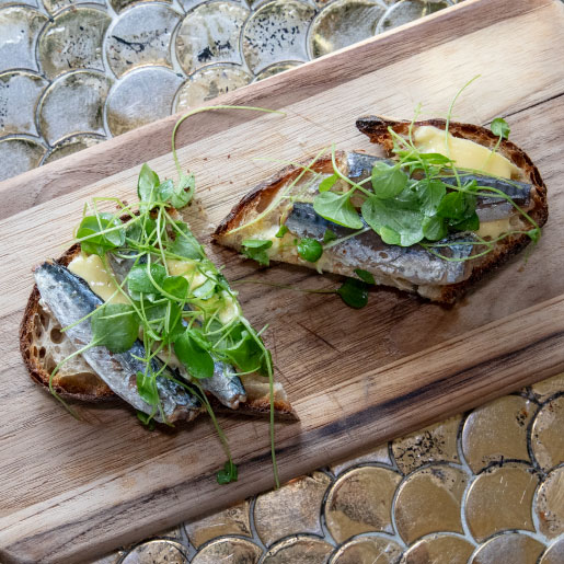 Mackerel Tartine by La Cafette