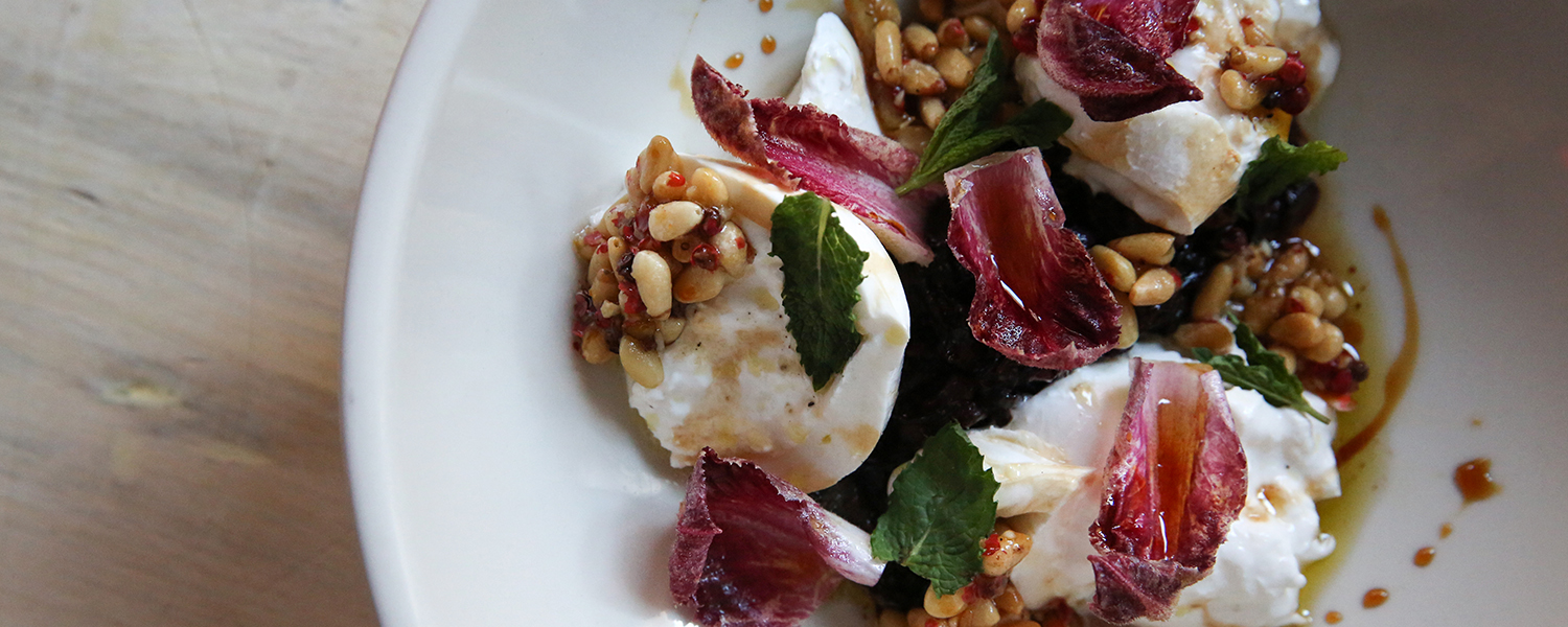 Winter White Burrata Salad closeup