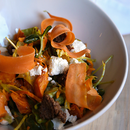 Roasted Carrots and Goat Cheese Salad
