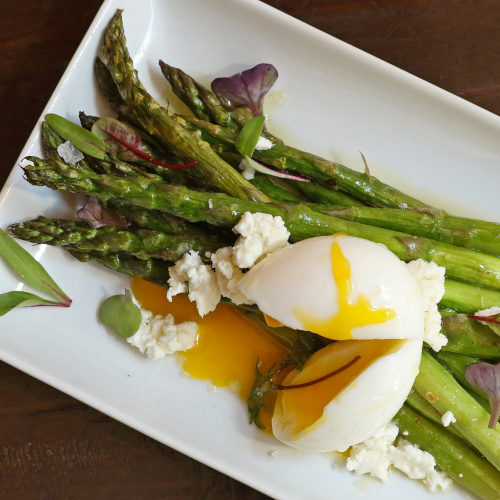 Casellula Roasted Asparagus with Marinated Feta