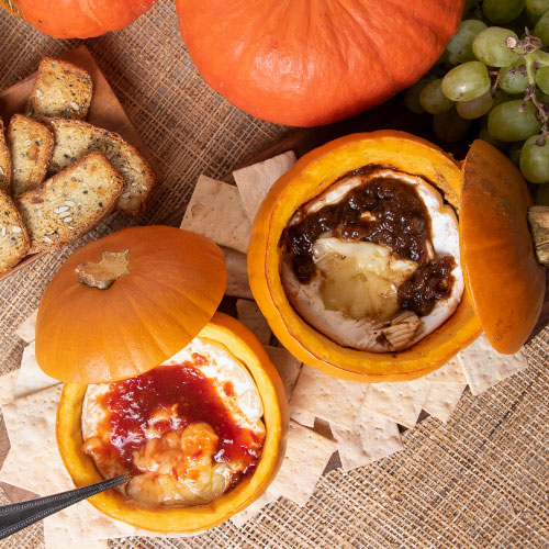 Baked Brie in a Pumpkin, Two Ways