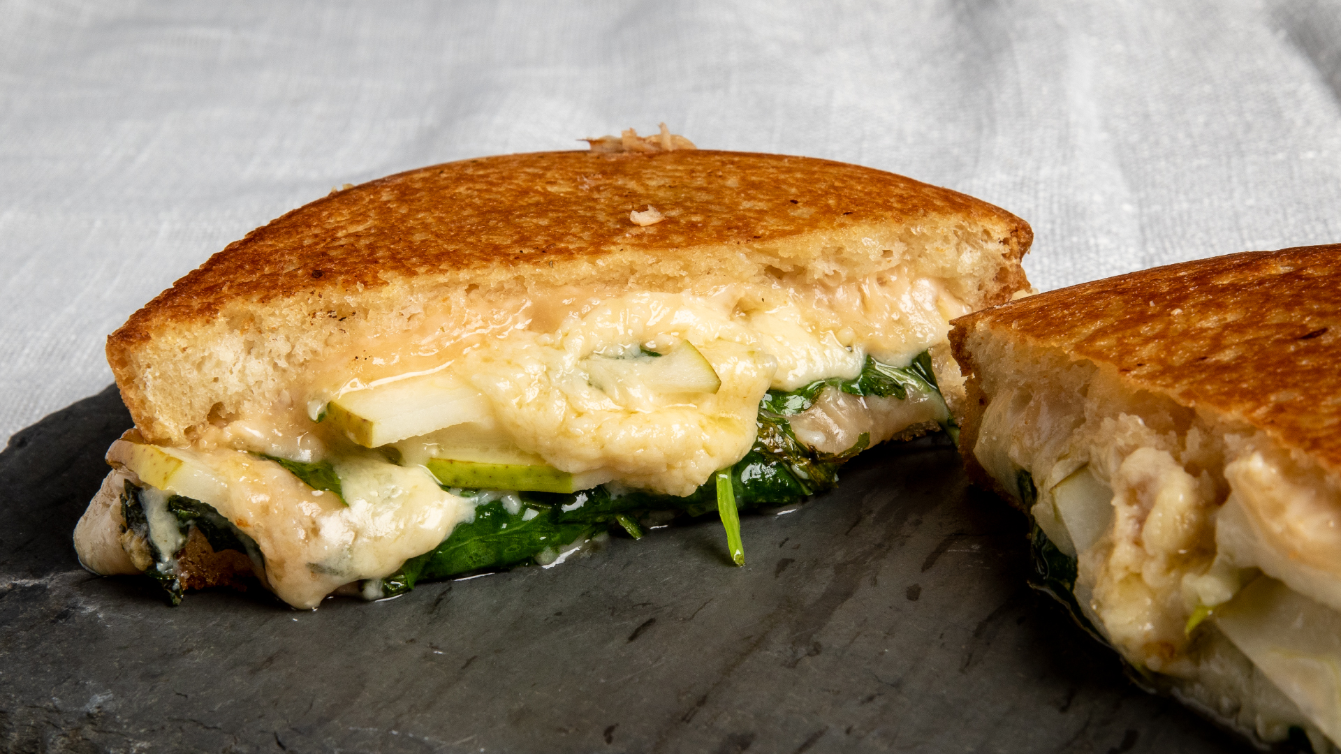 Beecher's Grilled Cheese with Pears & Kale
