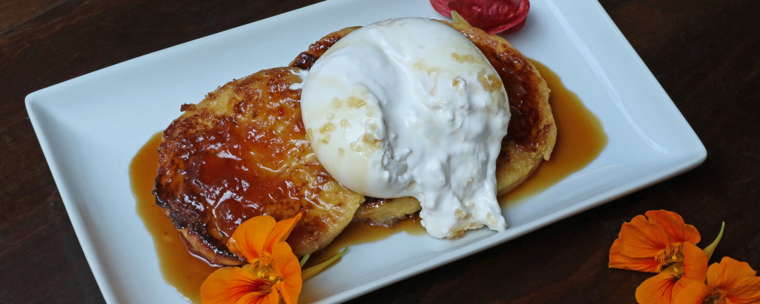 Burrata French Toast by Casellula