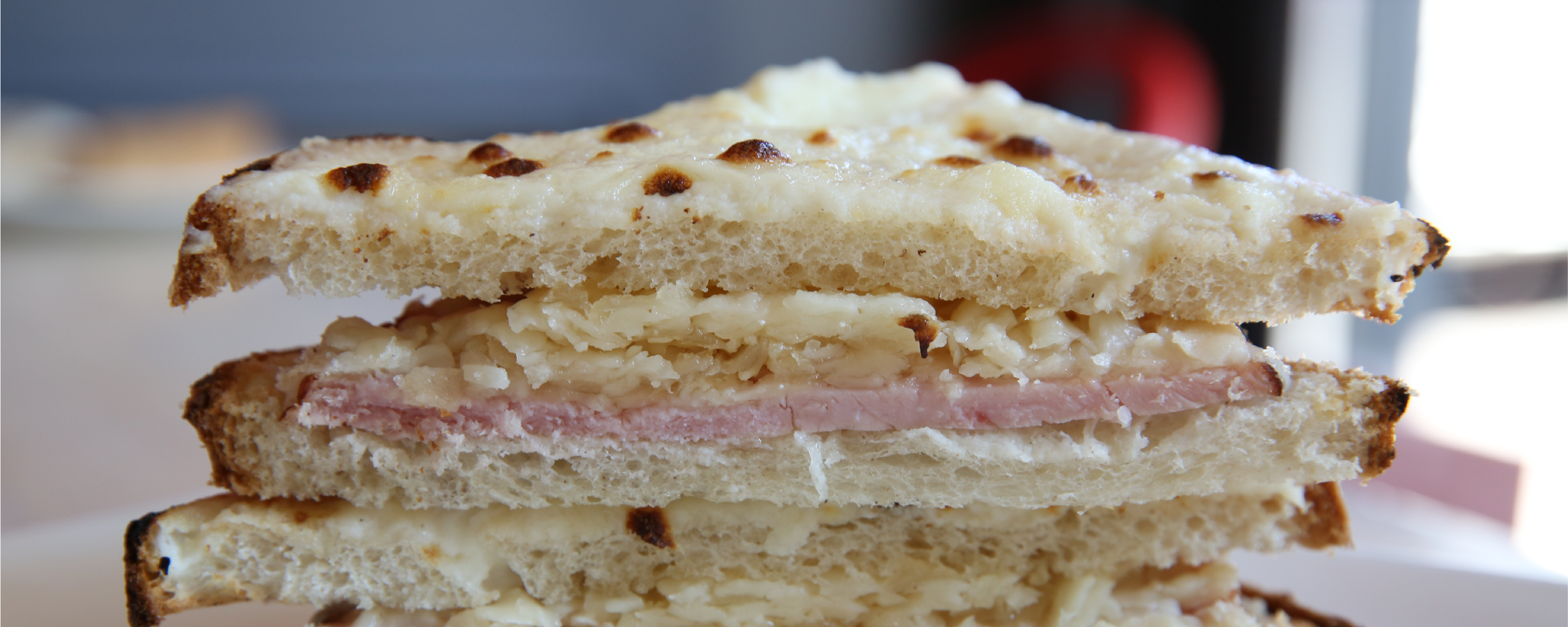 Croque Monsieur made with Comte cheese and Olympia Provisions Sweetheart Ham