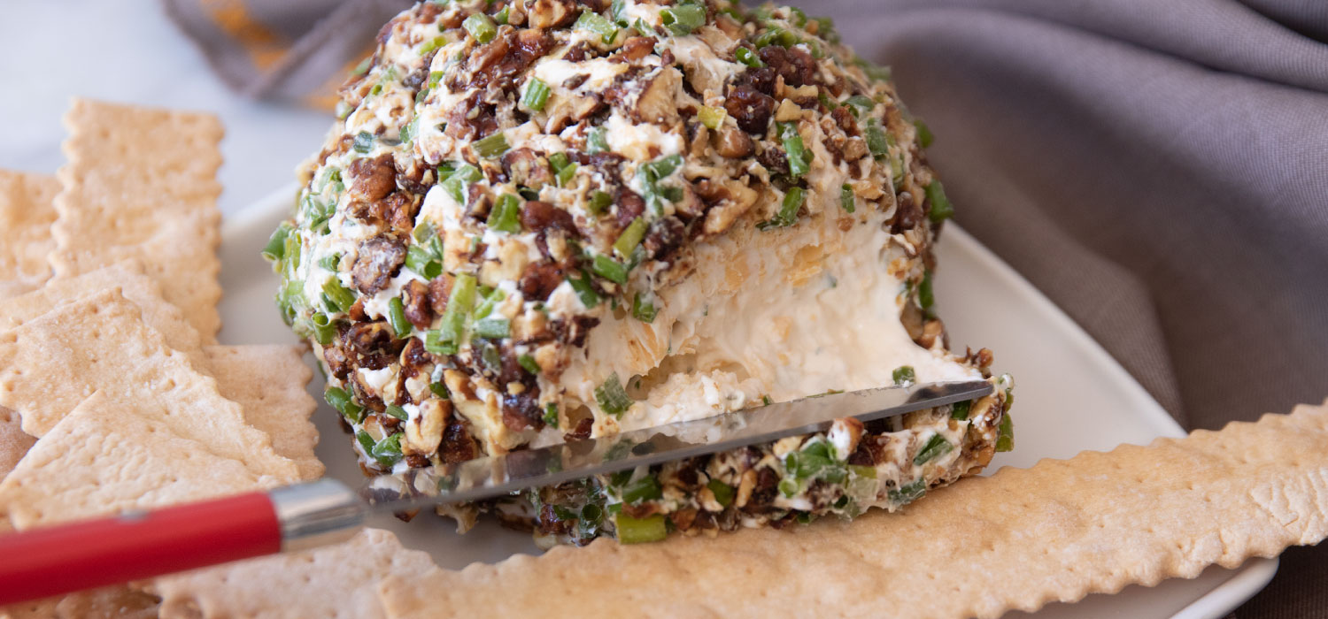 Crunchy Chive Cheese Ball 2