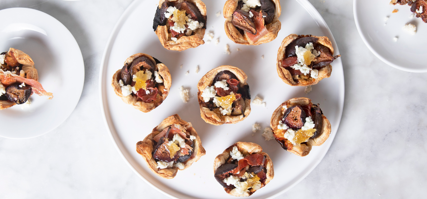 Fig & Jamon Tartlets with Blue Cheese
