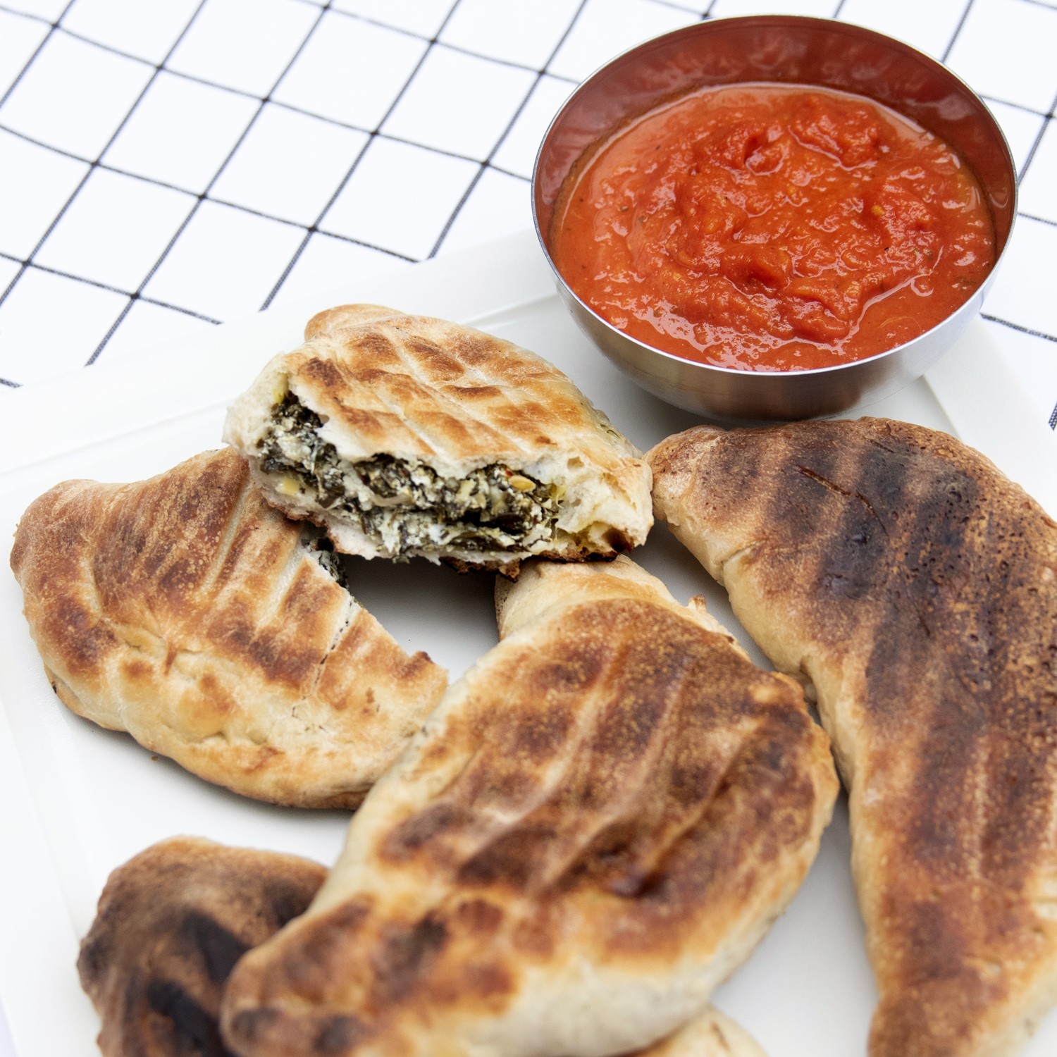 Grilled Spinach Artichoke Calzones