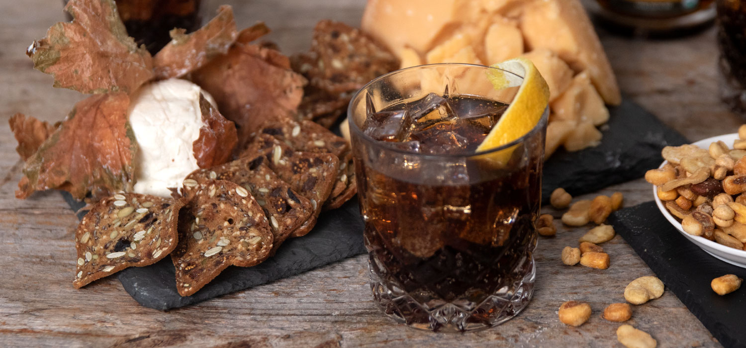 Maple Bourbon Smash with Cheese Pairings