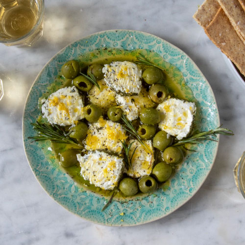 Marinated Olives & Goat Cheese Dip