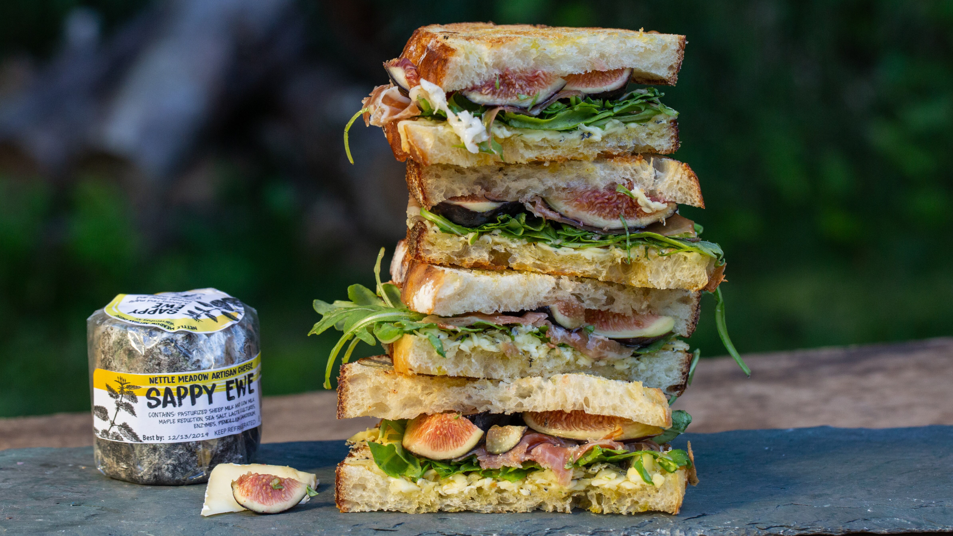Nettle Meadow Grilled Cheese with Ham & Figs