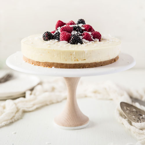 No Bake Chevre Cheesecake