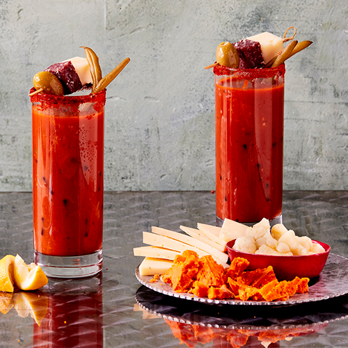 Two Otamot Bloody Mary's and Cheese Pairings