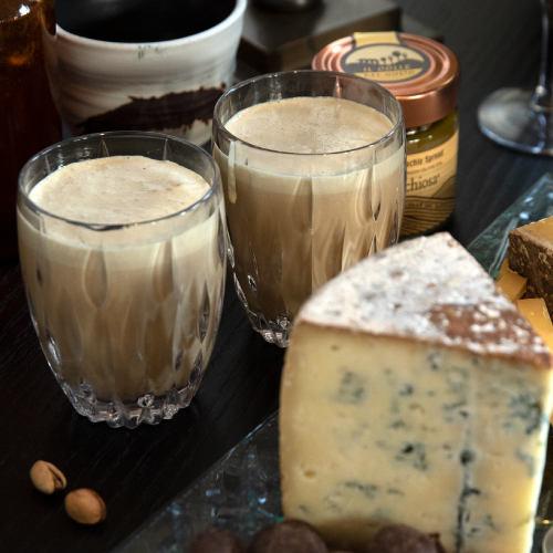 Pistachio White Russian with Cheese Pairings