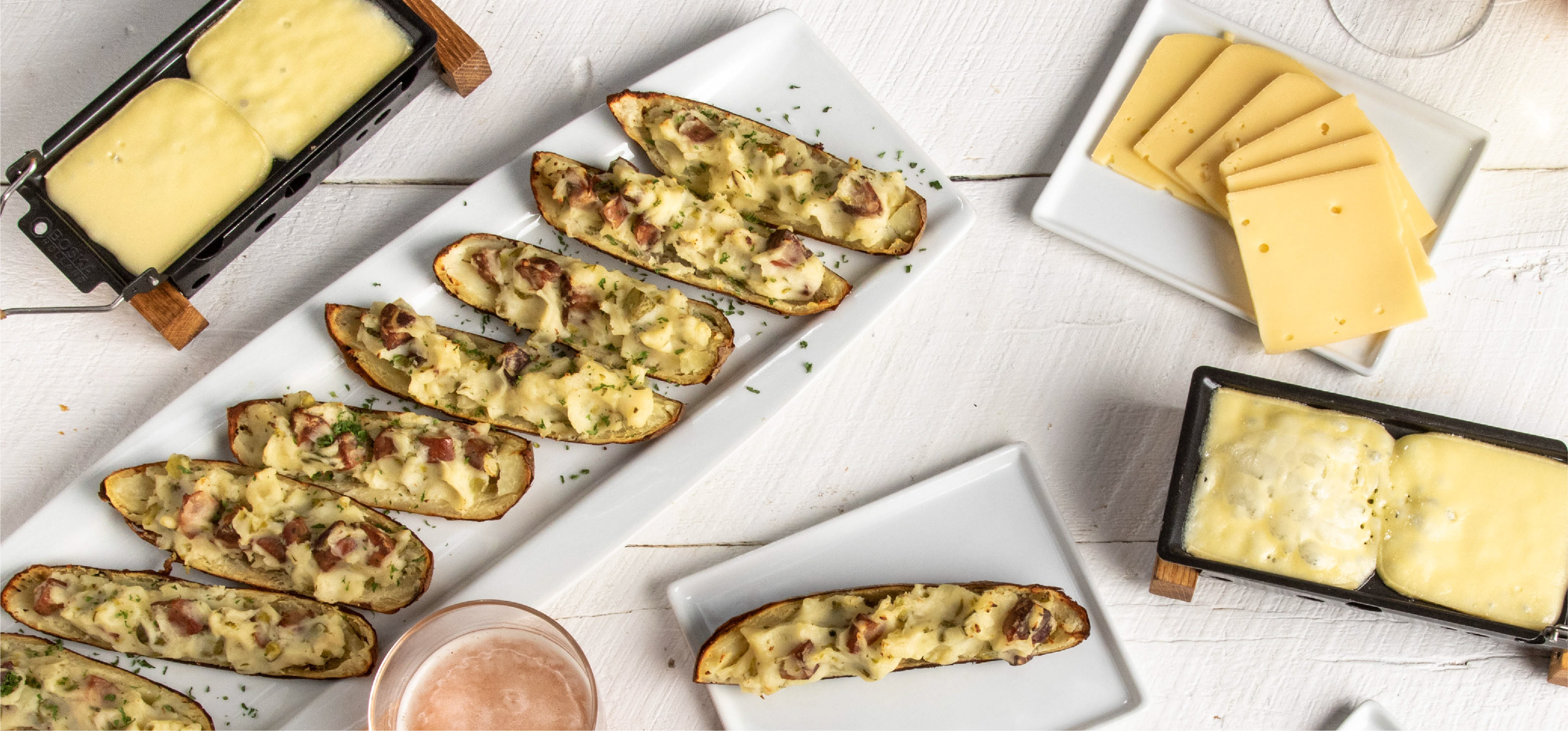 Potato Skins with Melted Raclette