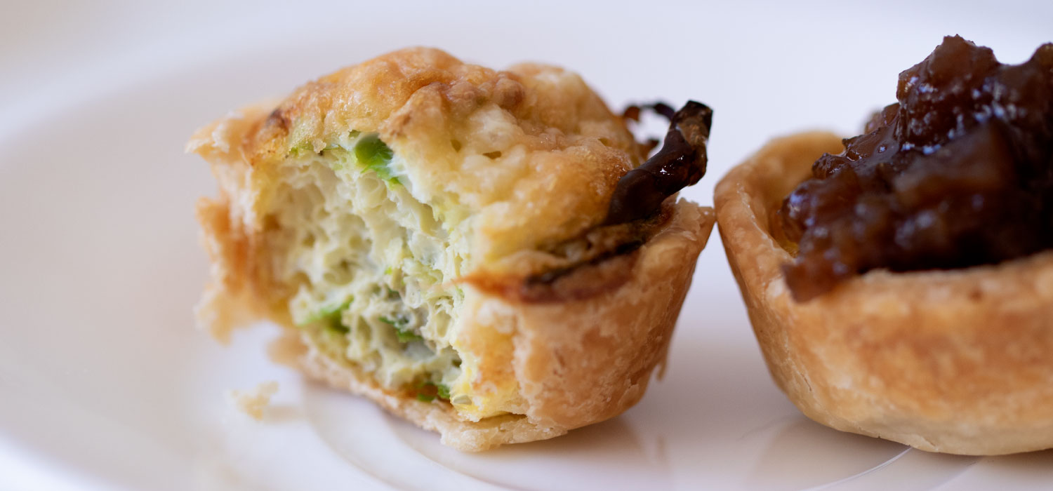 Roasted Garlic and Cheddar Quiche Puffs 2