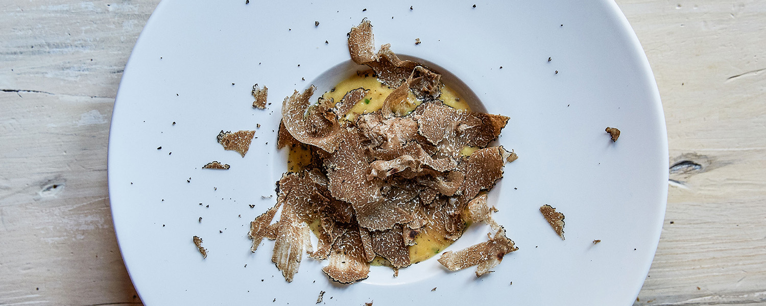 Soft Scrambled Eggs with Fresh Black Truffle