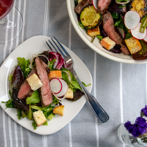 Grilled Steak Salad with Maroilles
